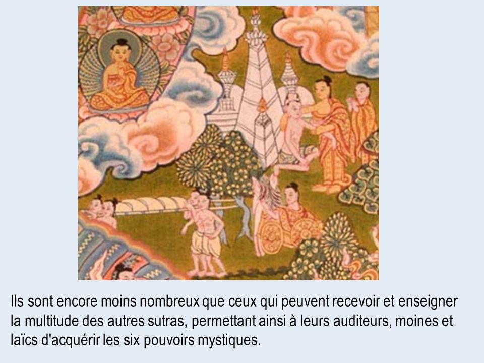Ils sont encore moins nombreux que ceux qui peuvent recevoir et enseigner la multitude des autres sutras, permettant ainsi à leurs auditeurs, moines e