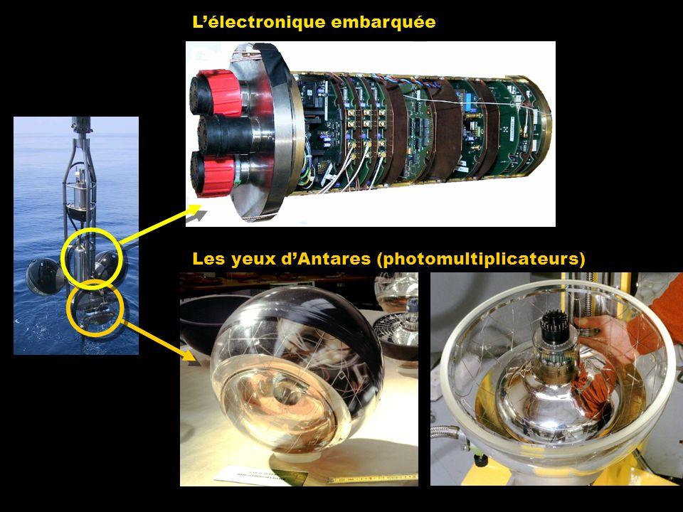 Lélectronique embarquée Les yeux dAntares (photomultiplicateurs)