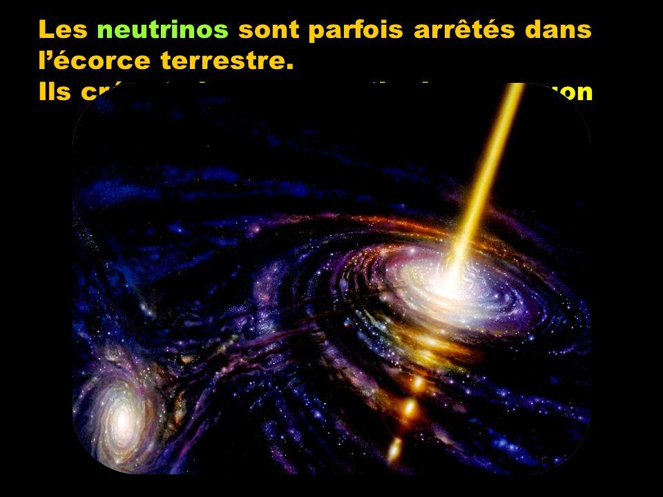 Les neutrinos sont parfois arrêtés dans lécorce terrestre.