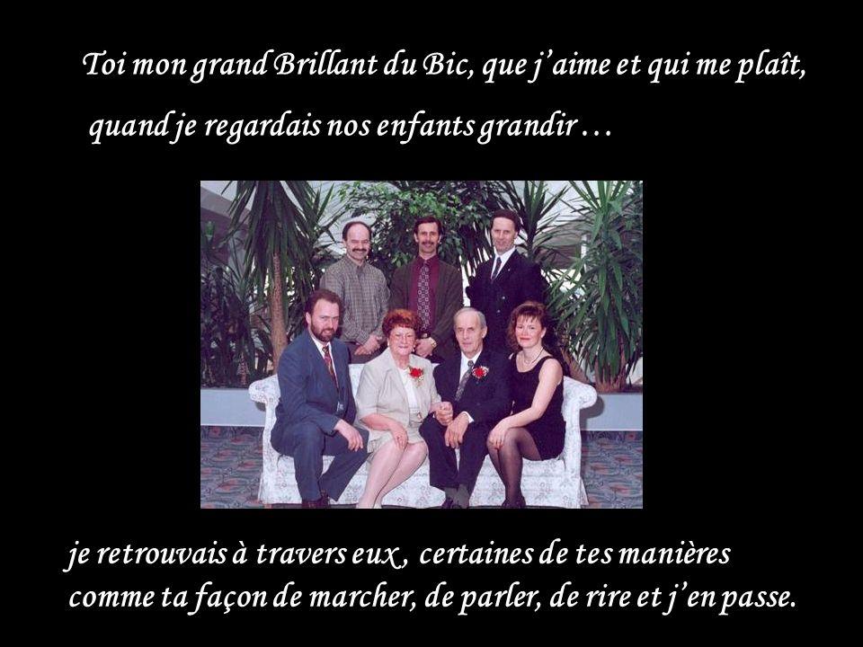 Une Noce dautrefois Ensemble, ma belle Clémence damour, on a eu cinq beaux enfants … … qui, à leur tour, eux aussi, ont trouvé leur chemin.
