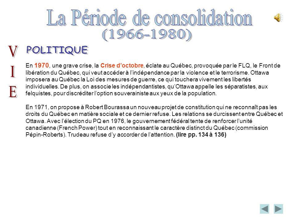 En 1970, une grave crise, la Crise doctobre, éclate au Québec, provoquée par le FLQ, le Front de libération du Québec, qui veut accéder à lindépendance par la violence et le terrorisme.
