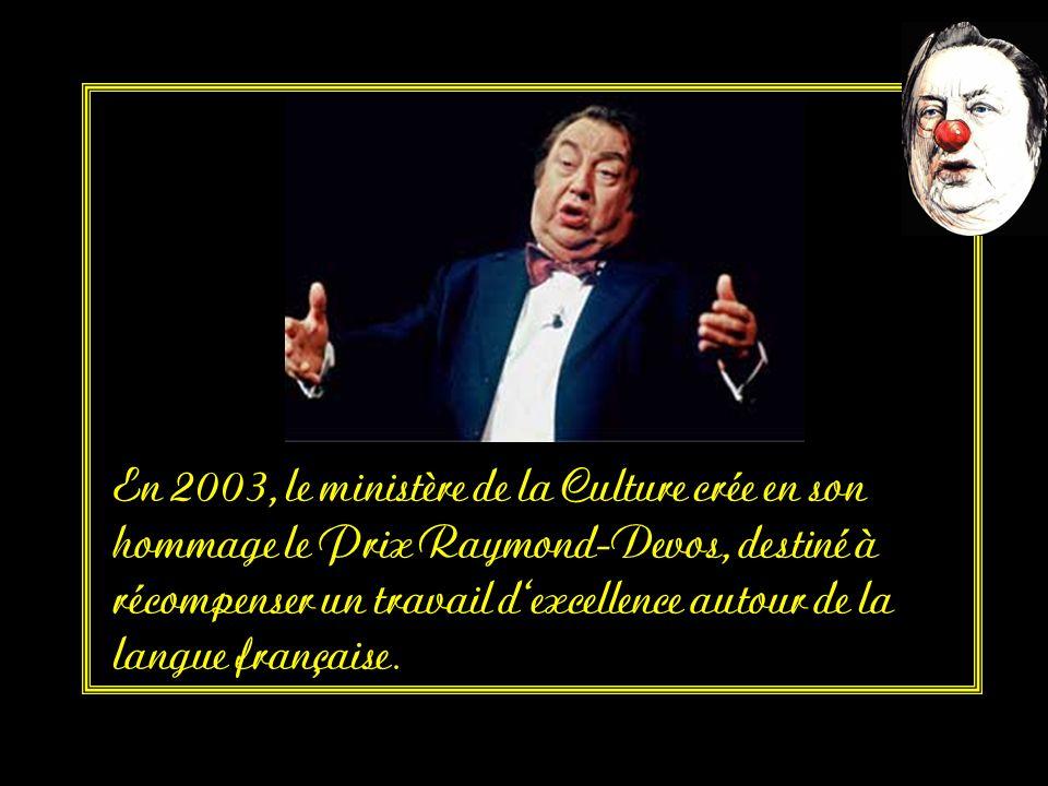 un Molière du meilleur one man show,(1989), un Molière d'honneur (2000), le Grand prix de l'humour de la Sacem (2001). Grand prix du disque de l'Acadé