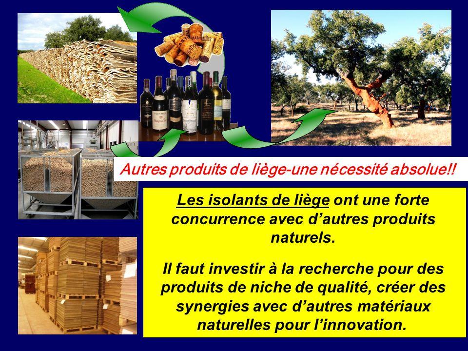 Autres produits de liège-une nécessité absolue!! Les isolants de liège ont une forte concurrence avec dautres produits naturels. Il faut investir à la