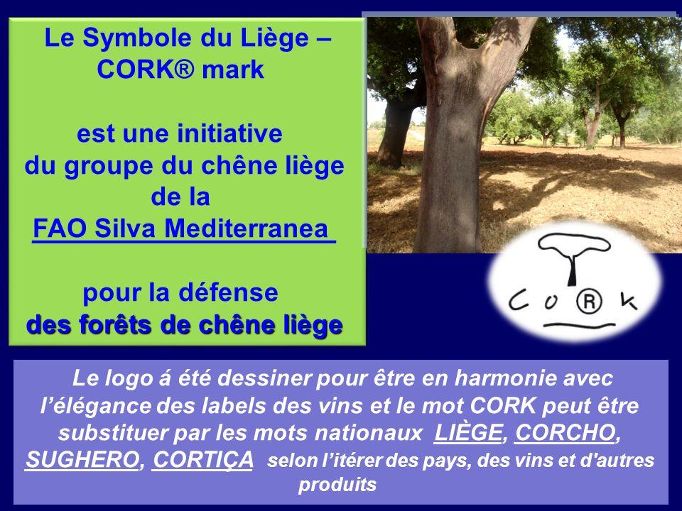 Le Symbole du Liège – CORK® mark CORK® mark est une VALEUR AJOUTER pour les VINS Le Symbole du Liège – CORK® mark CORK® mark est une VALEUR AJOUTER pour les VINS Aucune autre matière-première peut offrir au vin un bouchon avec le charme environnemental du liège NATUREL RENOVABLE RECYCLABLE BIODÉGRADABLE