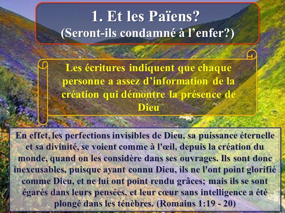 En effet, les perfections invisibles de Dieu, sa puissance éternelle et sa divinité, se voient comme à l œil, depuis la création du monde, quand on les considère dans ses ouvrages.