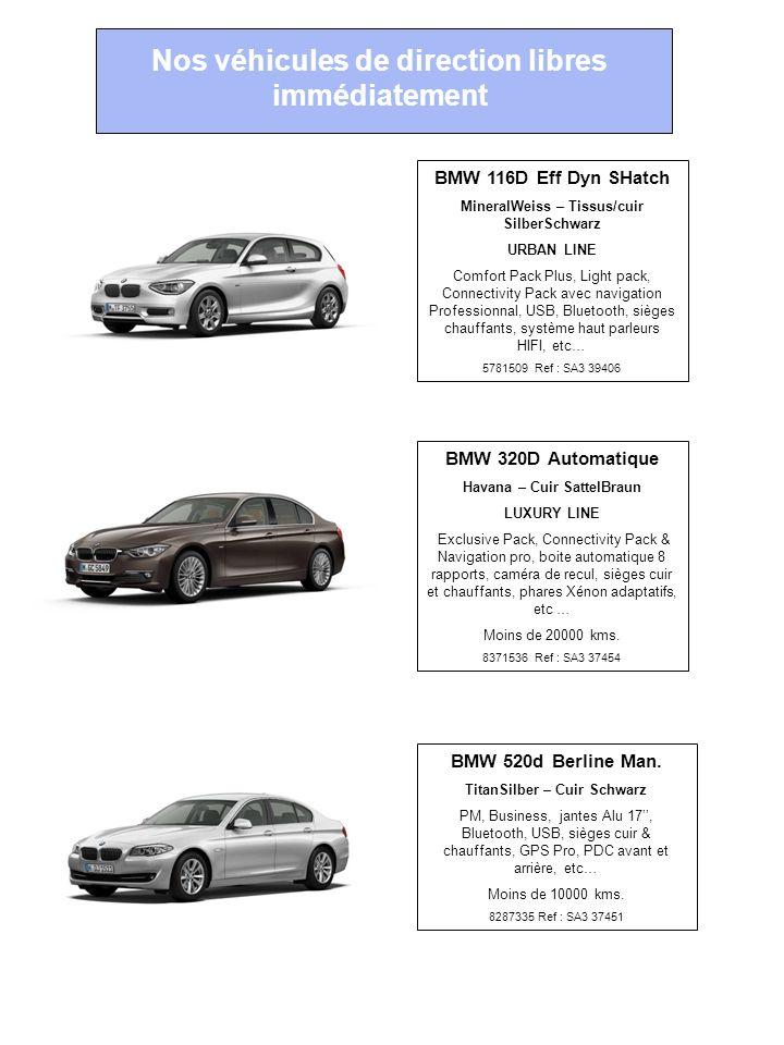 Nos véhicules de direction libres immédiatement BMW 320D Automatique Havana – Cuir SattelBraun LUXURY LINE Exclusive Pack, Connectivity Pack & Navigat
