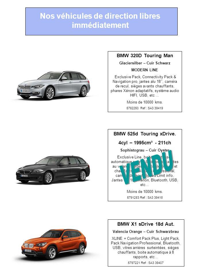 Zéro kilomètre … Nos véhicules de direction libres immédiatement BMW 320D Touring Man Glaciersilber – Cuir Schwarz MODERN LINE Exclusive Pack, Connect