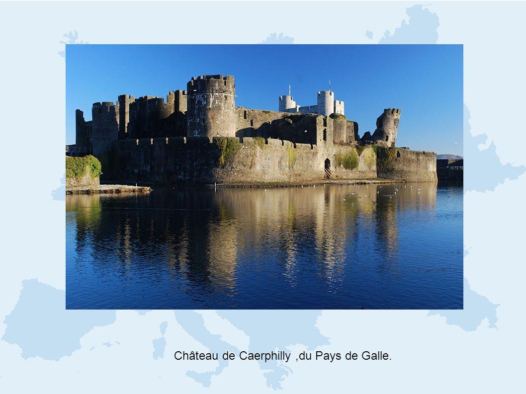 Château de Caerphilly,du Pays de Galle.