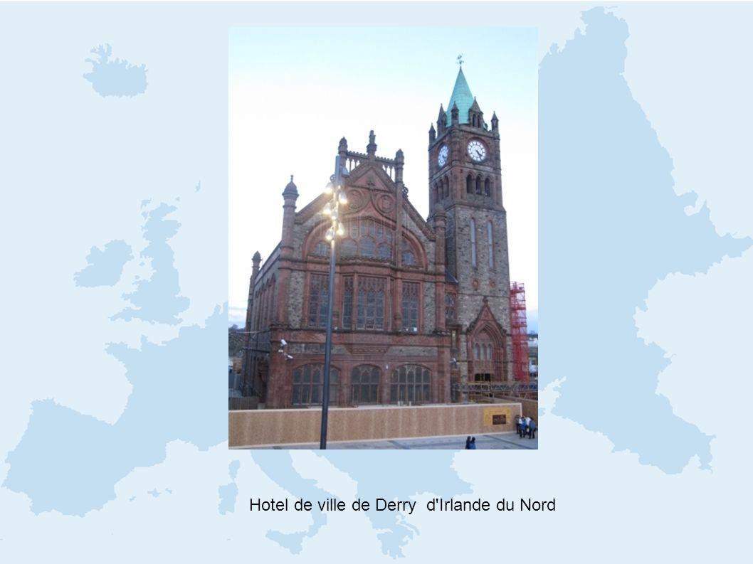 Hotel de ville de Derry d'Irlande du Nord
