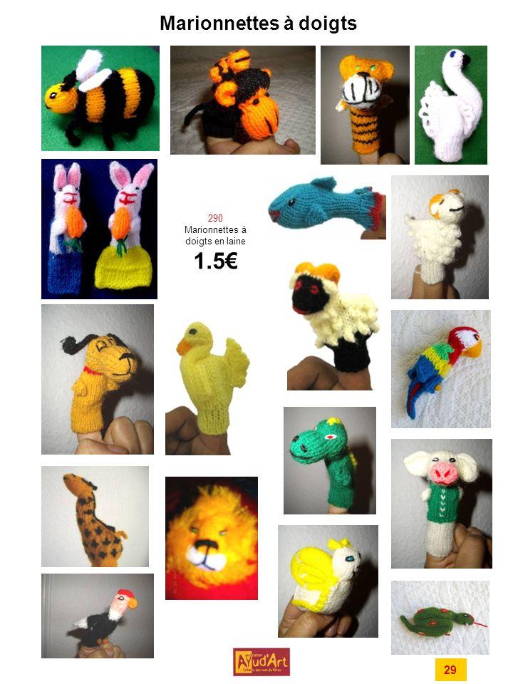 Marionnettes à doigts 290 Marionnettes à doigts en laine 1.5 29