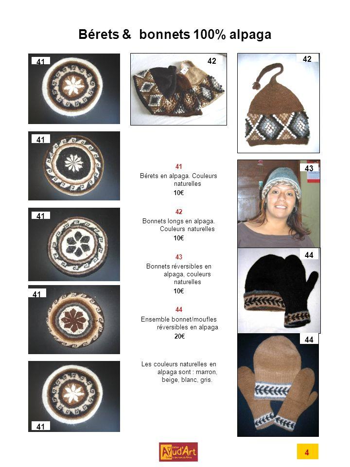 Bérets & bonnets 100% alpaga 41 Bérets en alpaga.