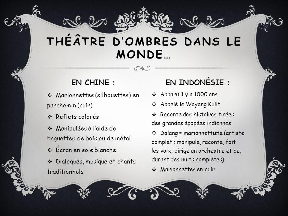 VIDÉO SUR LE THÉÂTRE DOMBRES EN CHINE ET EN INDONÉSIE Le théâtre de la Lanterne