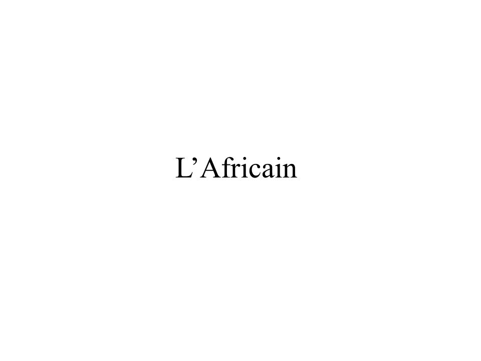 LAfricain