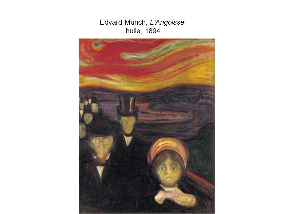 Edvard Munch, LAngoisse, huile, 1894