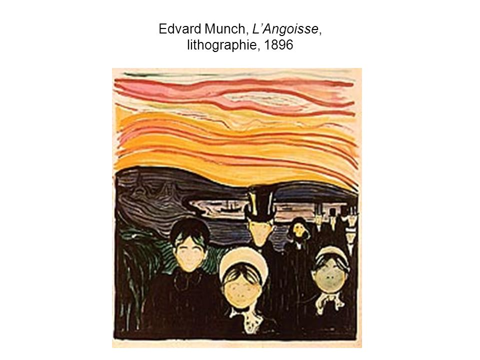 Edvard Munch, LAngoisse, lithographie, 1896