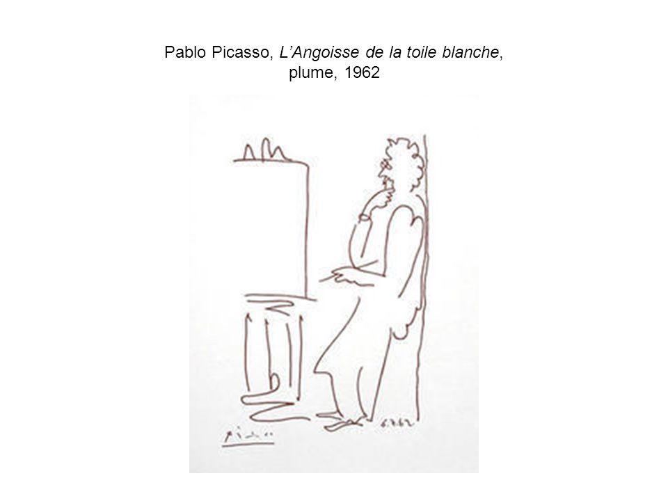Pablo Picasso, LAngoisse de la toile blanche, plume, 1962