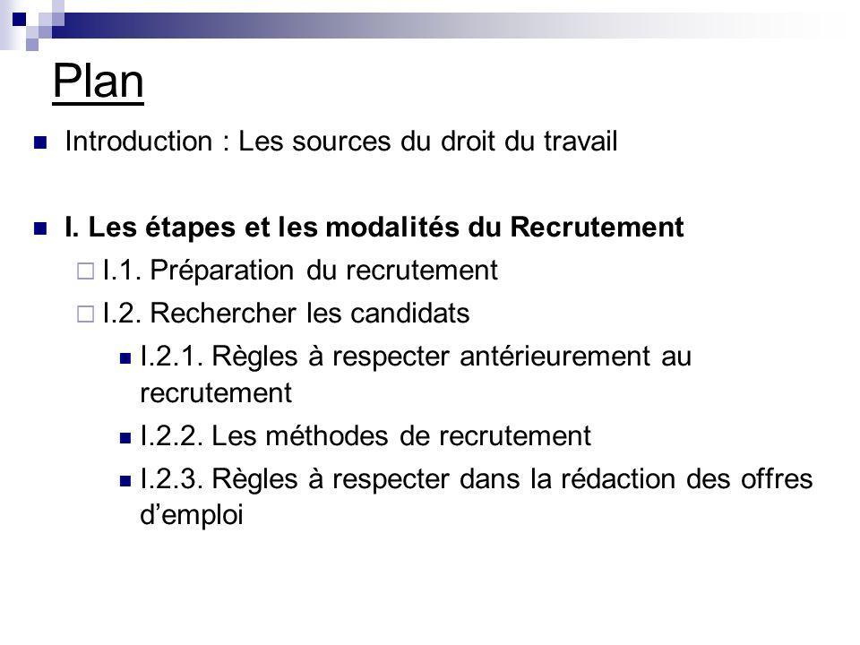 Plan I.3.Sélection des candidats I.3.1. La phase de pré-sélection I.3.2.