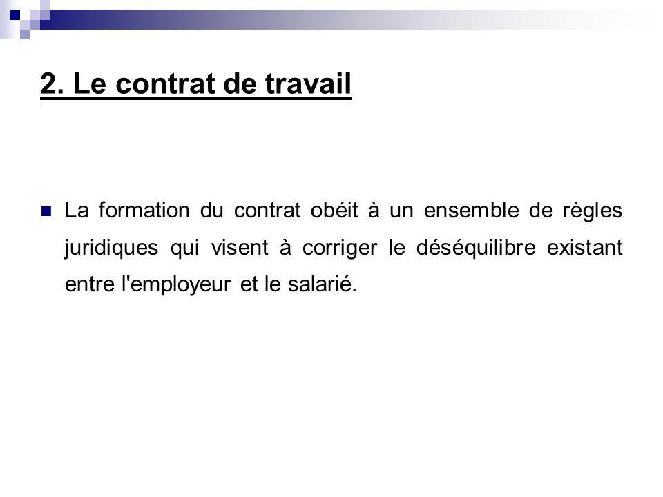 2.1.La forme du contrat Le contrat de travail doit-il être écrit .