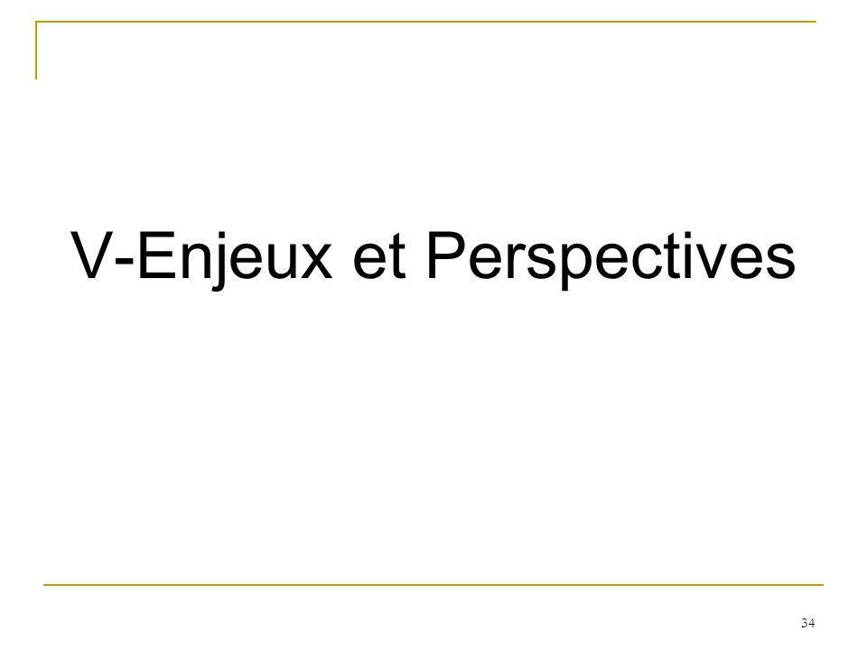 34 V-Enjeux et Perspectives