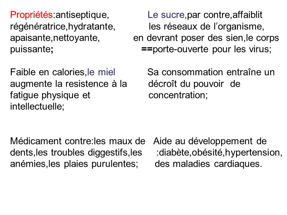 Des sources: http://www.angelfire.com/journal/sunnah/Sciences/miel.html http://www.lesruchersdestjoseph.com/miels.html http://www.belle-belle-belle.com/bienfaits-du-miel-sur-la-peau.html http://www.au-miel.fr/bienfaits-miel/cheveux-miel.html http://www.savezvousque.fr/produit/alimentation/miel-soin.html http://www.google.fr/imgres?q=le+miel&hl=ro&biw=1163&bih=875&tbm=isch&tbnid=yOS5Ej7- 7H2idM:&imgrefurl=http://fr.le.miel.de.tenerife.acomerya.com/&docid=X3CieN_tU0hwrM&imgurl=http://es.la.miel.d e.tenerife.acomerya.com/miel_natural3.jpg&w=235&h=383&ei=Pm6hT8z1NdHc4QSmg8juCA&zoom=1&iact=rc&d ur=230&sig=100726907488192260116&page=3&tbnh=166&tbnw=100&start=52&ndsp=27&ved=1t:429,r:11,s:52,i: 207&tx=75&ty=129http://www.google.fr/imgres?q=le+miel&hl=ro&biw=1163&bih=875&tbm=isch&tbnid=yOS5Ej7- 7H2idM:&imgrefurl=http://fr.le.miel.de.tenerife.acomerya.com/&docid=X3CieN_tU0hwrM&imgurl=http://es.la.miel.d e.tenerife.acomerya.com/miel_natural3.jpg&w=235&h=383&ei=Pm6hT8z1NdHc4QSmg8juCA&zoom=1&iact=rc&d ur=230&sig=100726907488192260116&page=3&tbnh=166&tbnw=100&start=52&ndsp=27&ved=1t:429,r:11,s:52,i: 207&tx=75&ty=129 http://www.google.fr/imgres?q=bienfaits+du+miel+pour+cheveux&start=132&hl=ro&sa=X&biw=1163&bih=316&tb m=isch&prmd=imvns&tbnid=Tb-db6YGaXweqM:&imgrefurl=http://www.dailyconso.com/rubrique/beaute-bien- etre_r85/les-vertus-du-miel-en- cosmetique_a40580/1&docid=o9GSzj483CLSAM&imgurl=http://static1.dailyconso.com/articles/0/40/58/0/%2540/3 13548-beaute-decouvrez-les-vertus-et-les-0x384-1.jpg&w=576&h=384&ei=QW-hT- ahAvT04QSWoICMCQ&zoom=1&iact=rc&dur=253&sig=100726907488192260116&page=7&tbnh=108&tbnw=147 &ndsp=22&ved=1t:429,r:12,s:132,i:128&tx=28&ty=37http://www.google.fr/imgres?q=bienfaits+du+miel+pour+cheveux&start=132&hl=ro&sa=X&biw=1163&bih=316&tb m=isch&prmd=imvns&tbnid=Tb-db6YGaXweqM:&imgrefurl=http://www.dailyconso.com/rubrique/beaute-bien- etre_r85/les-vertus-du-miel-en- cosmetique_a40580/1&docid=o9GSzj483CLSAM&imgurl=http://static1.dailyconso.com/articles/0/40/58/0/