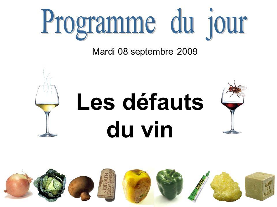 Les défauts du vin Mardi 08 septembre 2009