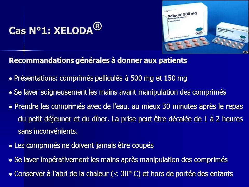 Recommandations générales à donner aux patients Présentations: comprimés pelliculés à 500 mg et 150 mg Présentations: comprimés pelliculés à 500 mg et