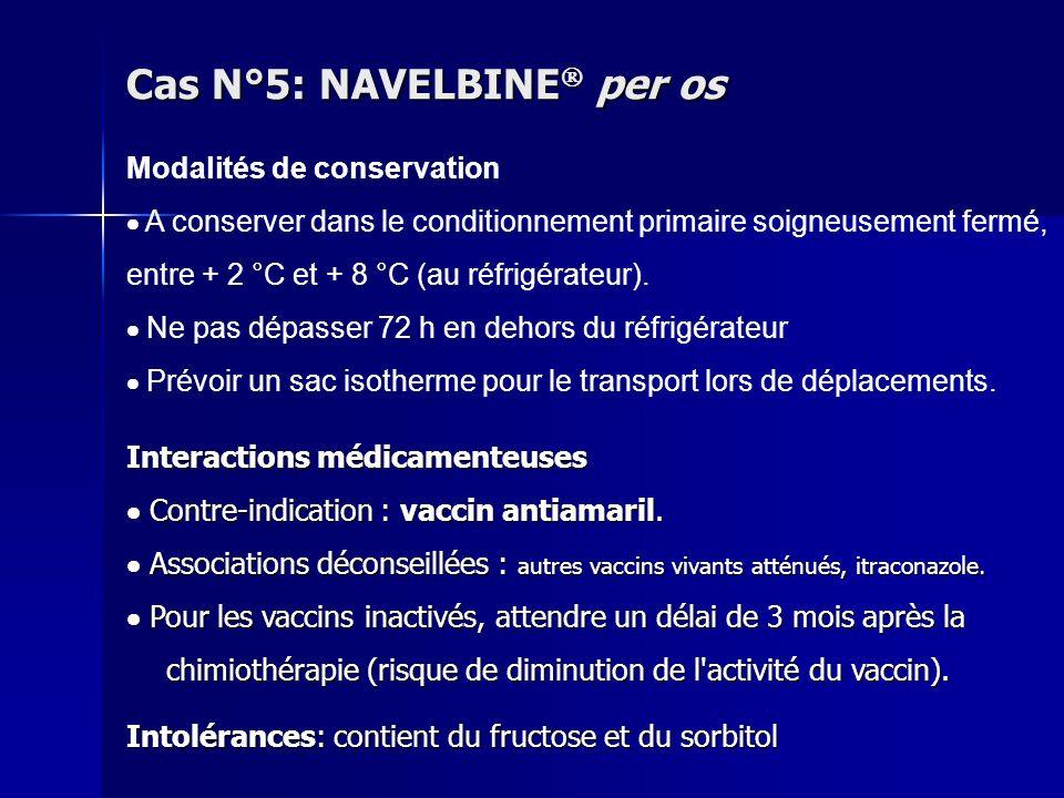 Interactions médicamenteuses Contre-indication : vaccin antiamaril. Contre-indication : vaccin antiamaril. Associations déconseillées : autres vaccins