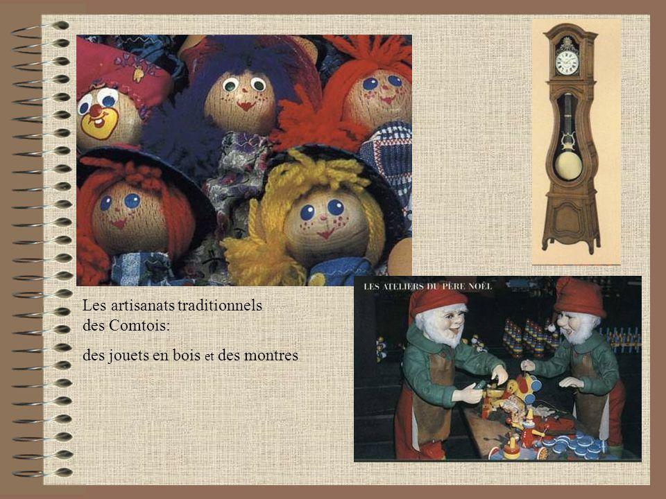Les artisanats traditionnels des Comtois: des jouets en bois et des montres