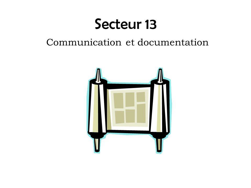 Secteur 13 Communication et documentation