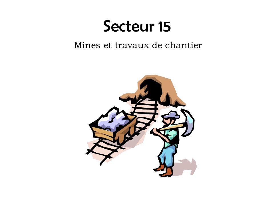 Secteur 15 Mines et travaux de chantier