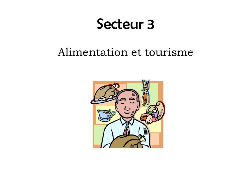 Secteur 3 Alimentation et tourisme