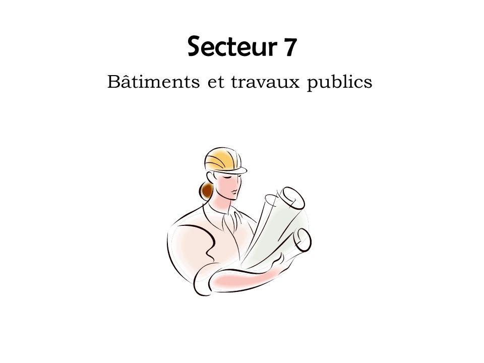 Secteur 7 Bâtiments et travaux publics
