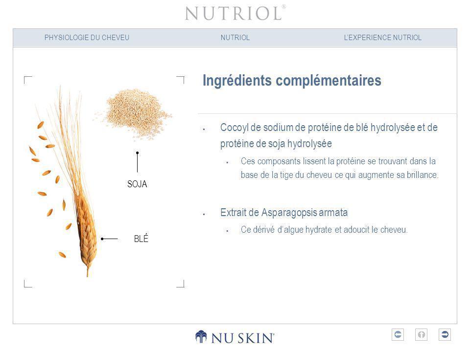 PHYSIOLOGIE DU CHEVEUNUTRIOLLEXPERIENCE NUTRIOL Nutriol – Les principaux bienfaits Revitalise et renforce le cheveu La force du cheveu dépend de son hydratation et du contenu en nutriments de la tige du cheveu.