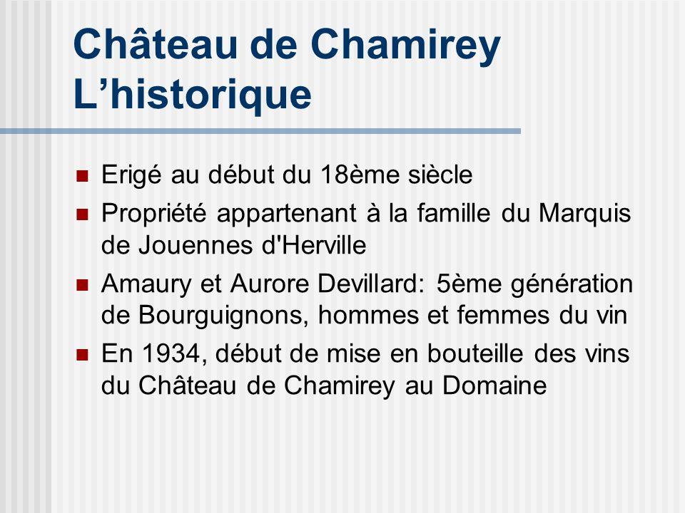 Château de Chamirey Lhistorique Erigé au début du 18ème siècle Propriété appartenant à la famille du Marquis de Jouennes d'Herville Amaury et Aurore D