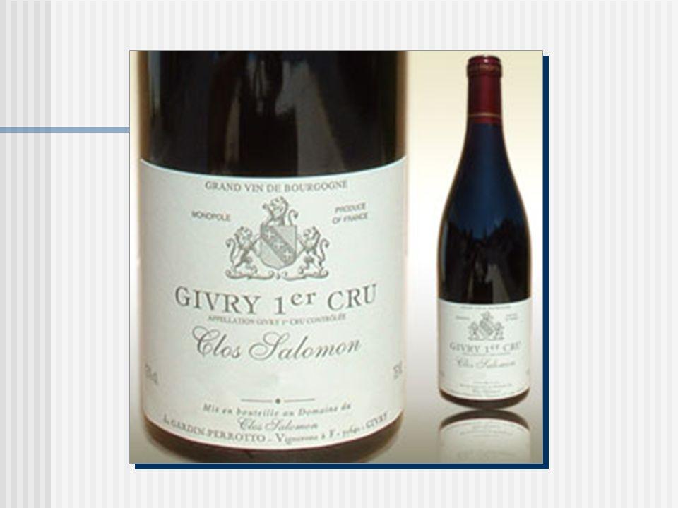 Le Pinot noir Clos Salomon 2004 Côte chalonnaise, Bourgogne, France Appelation Givry