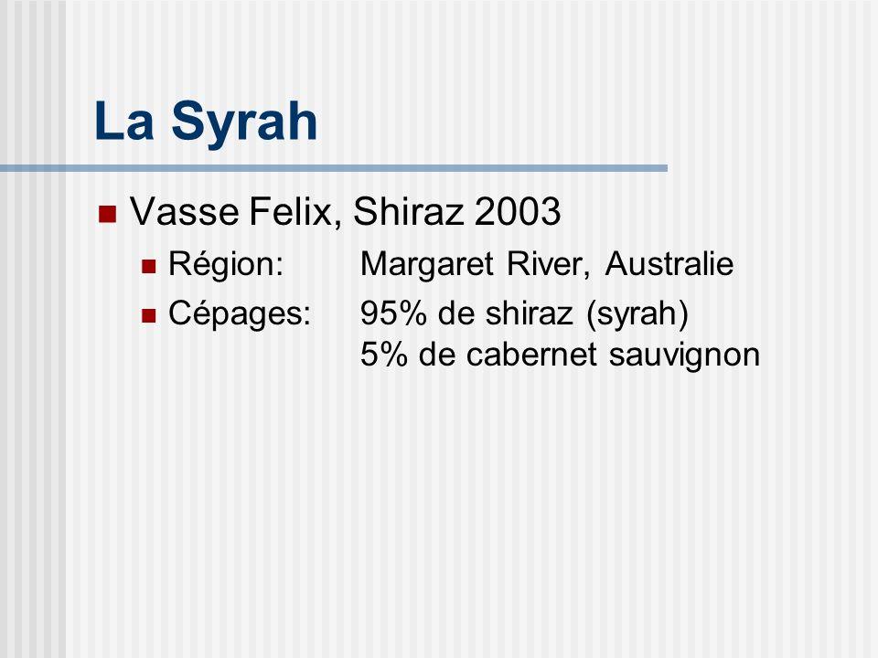 Vasse Felix Lhistorique 1er vignoble et vinerie installés dans la région de Margaret River Vasse: marin français, mort noyé à proximité au 19e siècle Felix: paradoxalement, heureux.