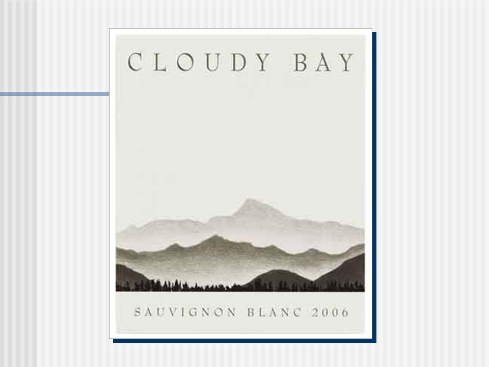 Cloudy Bay L historique Le nom de la baie Donnée par Capitaine Cook en 1770: extrémité est de la vallée de Wairau en Nouvelle Zélande La vinerie Établie par Cape Mentelle Vineyards (Australie de lOuest) en 1985 Appartient à Moët Hennessy 5 viticulteurs