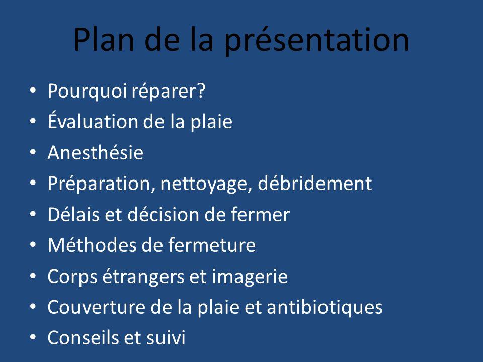 Plan de la présentation Pourquoi réparer.