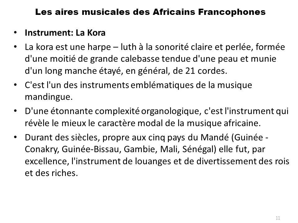 Les aires musicales des Africains Francophones 12 Instrument: Le Vahila