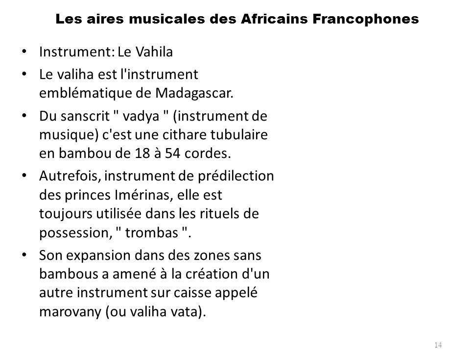 Les aires musicales des Africains Francophones 15 Instrument: Le Djembé