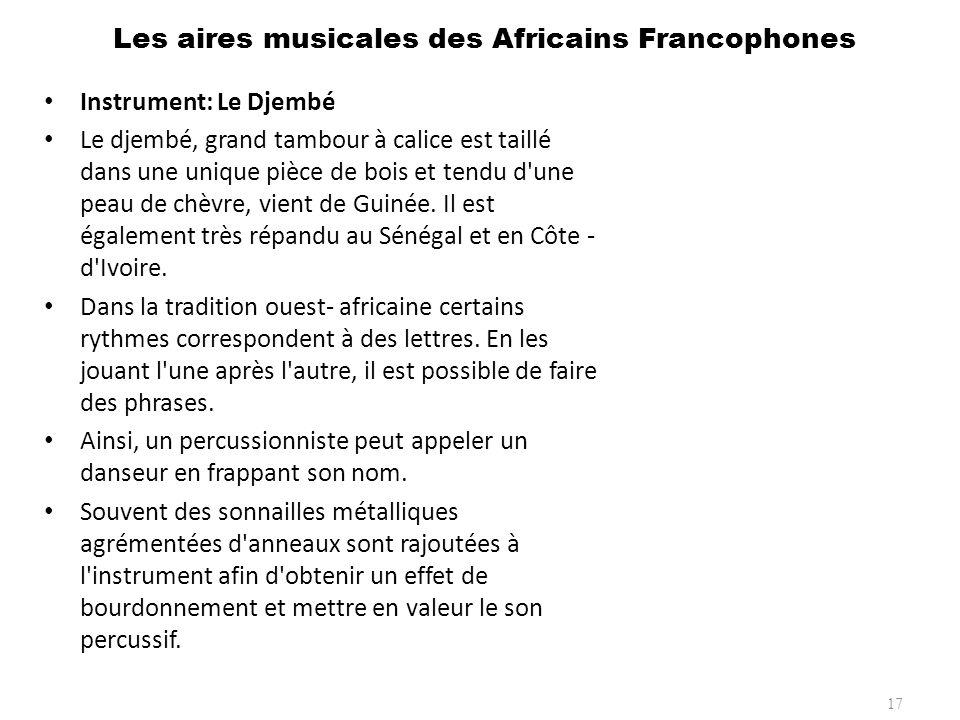 Les aires musicales des Africains Francophones 18 Instrument: La Sanza