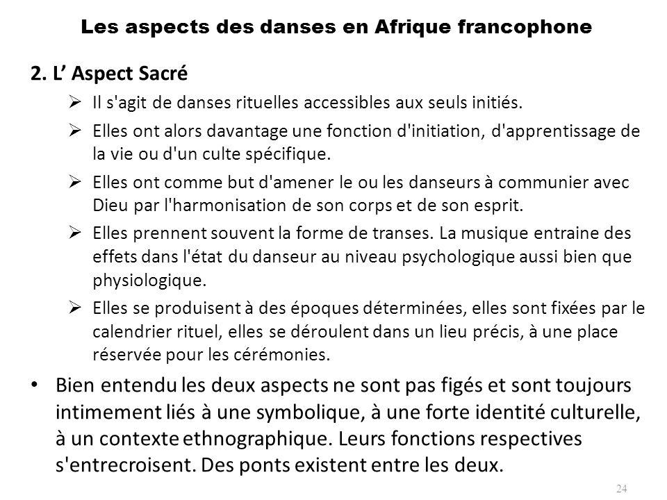 A.Catégories des danses 1.Les danses lentes Dans cette première catégorie, le danseur s intériorise.