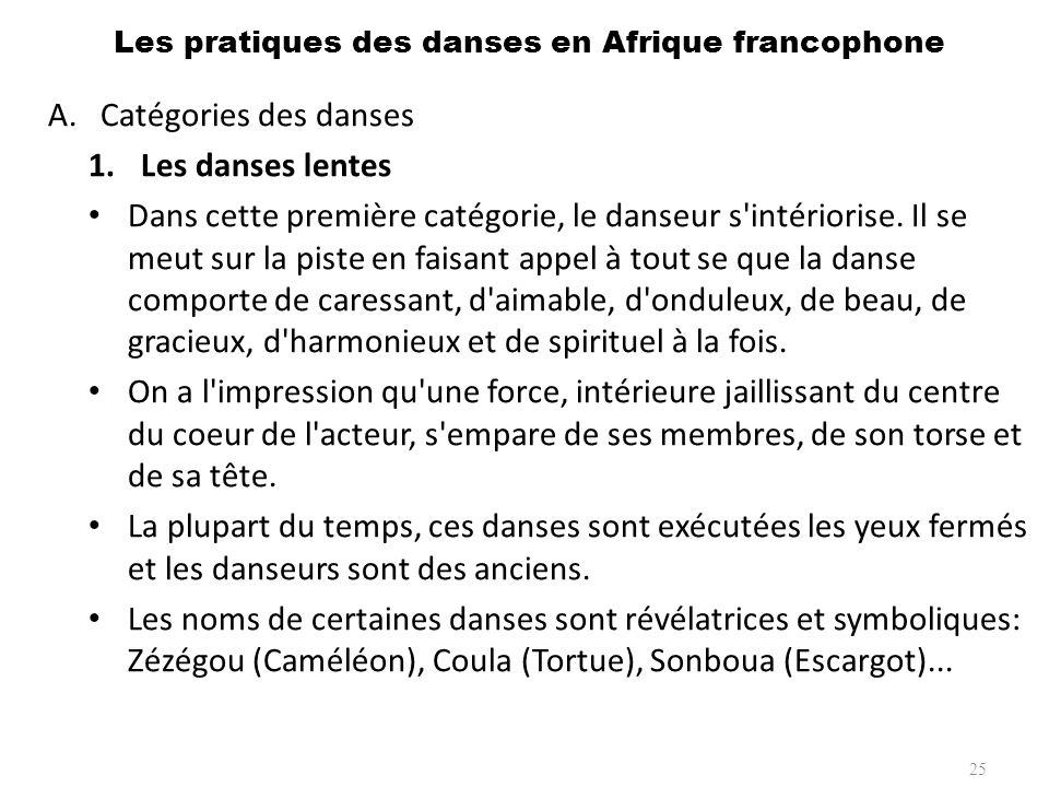 A.Catégories des danses 2.