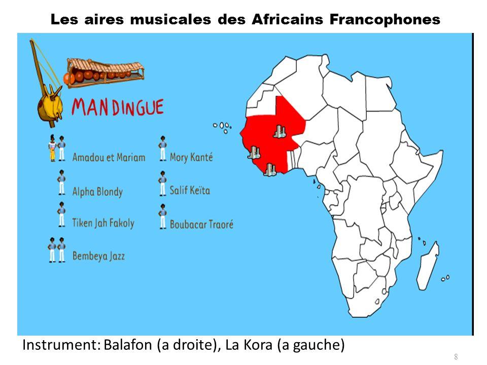 Laire musicale Mandingue correspond à une zone de savane et de forêt qui englobe la Gambie, la Casamance sénégalaise, la Guinée-Conakry, le Libéria, la Sierra Leone et la Côte dIvoire.