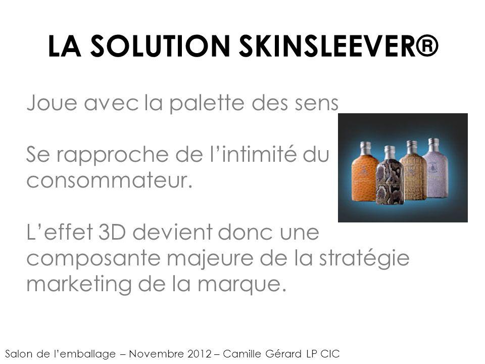 LA SOLUTION SKINSLEEVER® Joue avec la palette des sens Se rapproche de lintimité du consommateur.