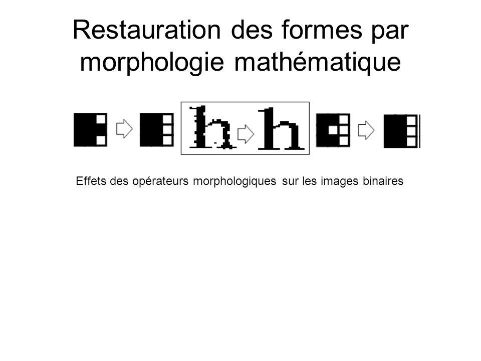 Restauration des formes par morphologie mathématique Effets des opérateurs morphologiques sur les images binaires