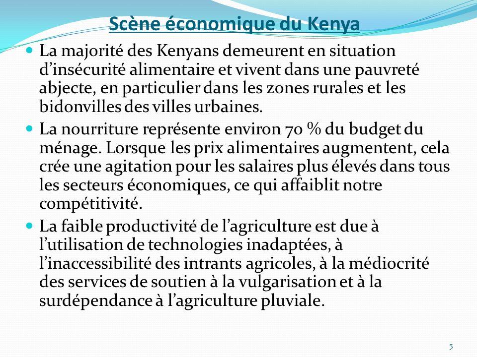 Scène économique du Kenya La majorité des Kenyans demeurent en situation dinsécurité alimentaire et vivent dans une pauvreté abjecte, en particulier d