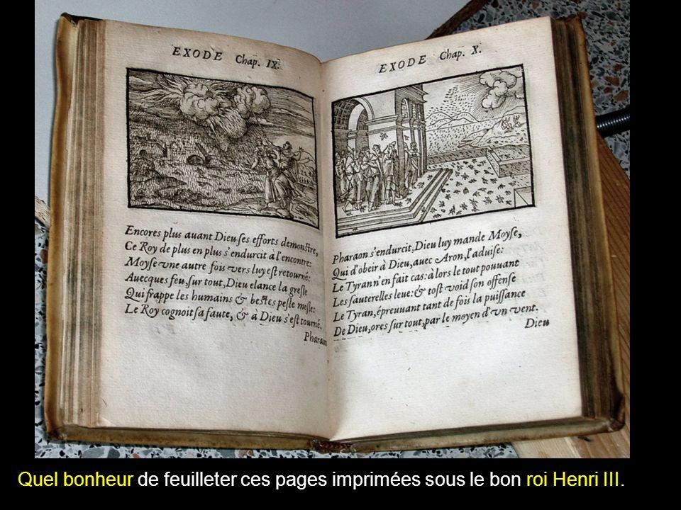 Quel bonheur de feuilleter ces pages imprimées sous le bon roi Henri III.