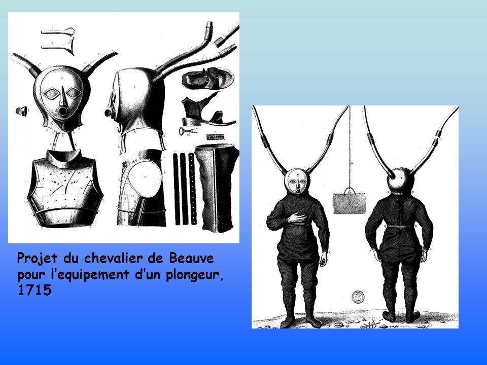 Projet du chevalier de Beauve pour lequipement dun plongeur, 1715