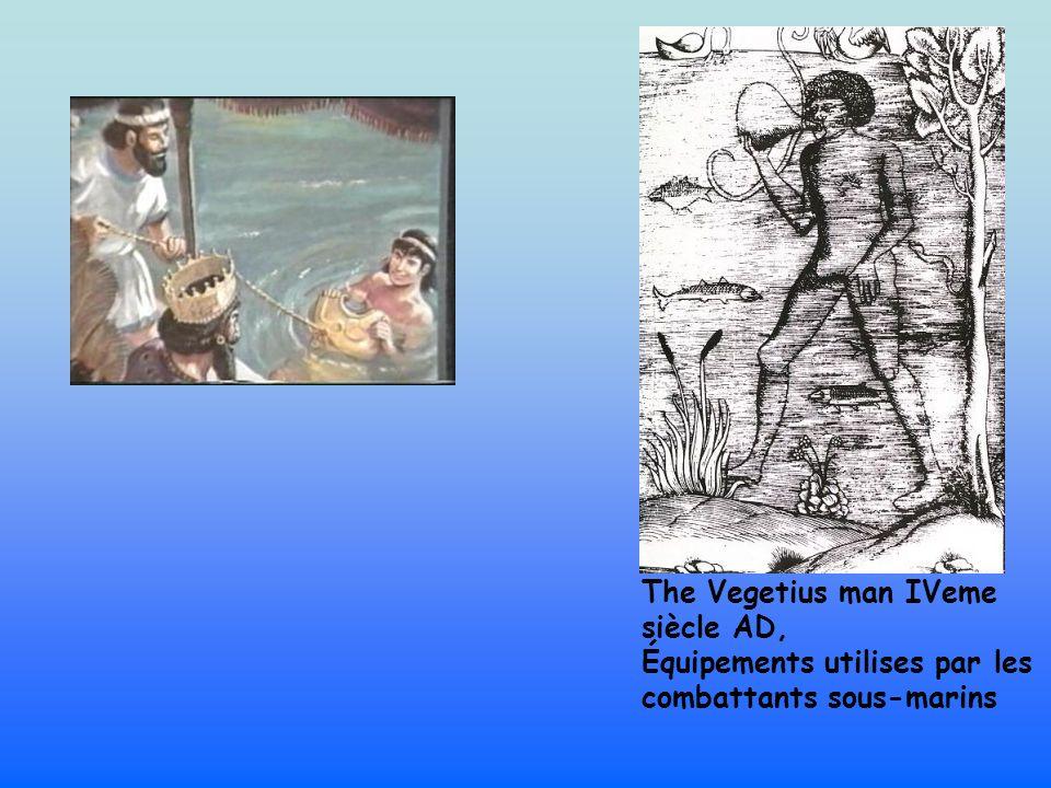 The Vegetius man IVeme siècle AD, Équipements utilises par les combattants sous-marins